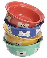 Rainbow Ceramic Pet Bowl 6""