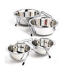 Stainless Steel Double Diner 2QT