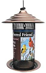 Nyjer Bird Feeder Medium Brushed Copper
