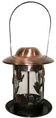Statesman Decorative Copper Feeder with Tray