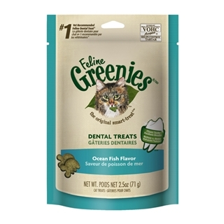 Feline Greenies Dental Treats Ocean Fish 2.5oz