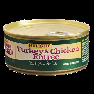 Holistic Health Extension Chicken & Turkey Entree, For Kittens & Cats 24x5.5 oz.