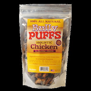 Holistic Health Extension Bully Puffs Chicken & Cheddar 5 oz.