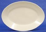 Oval Platter, Ivory w/Double Gold Band, 10""