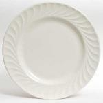 Dinner Plate, White Swirl, 10""