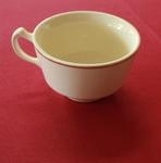 Coffee Cup, Ivory w/Double Gold Band
