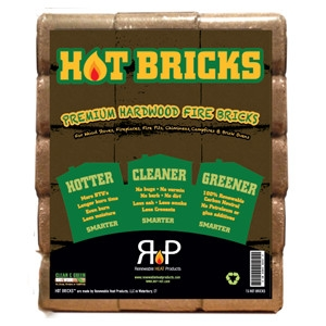 Hot Bricks Premium Hardwood Fire Bricks 15Pk