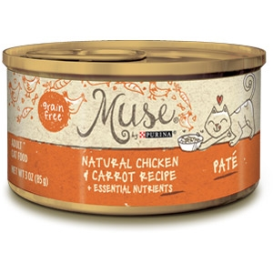 Purina® Muse® Natural Chicken and Carrot Recipe Cat Food in Pate