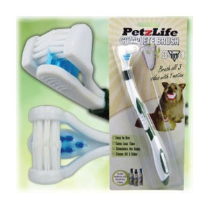 PetzLife Complete Brush - 3-Sided Toothbrush