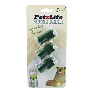 PetzLife Finger Brush - 3 Pack