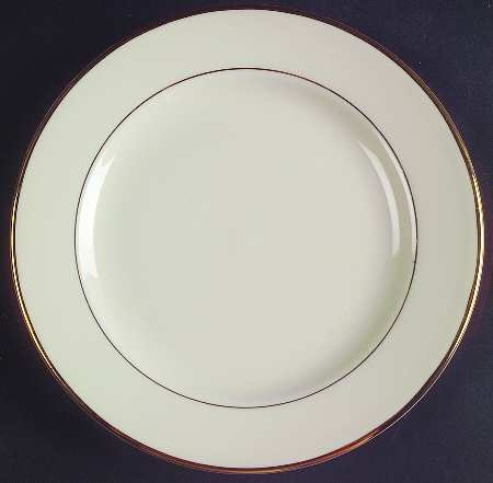 Ivory w/ Gold Band China-Snack Plate(Tea & Toast)