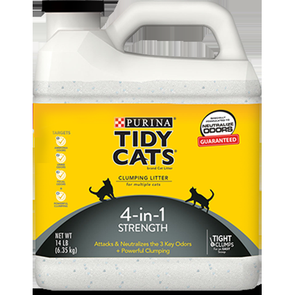 Purina Tidy Cats, Clumping Cat Litter 4-in-1 Strength
