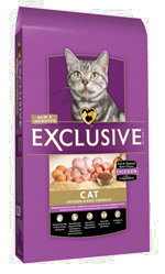 Exclusive Chicken and Brown Rice Formula Cat Food