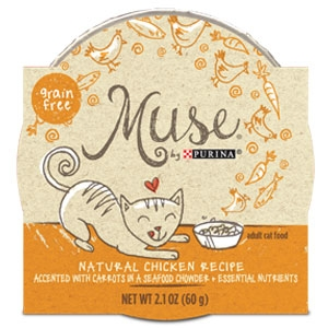 Purina Muse Natural Chicken Recipe (Chowder) Adult Cat Food