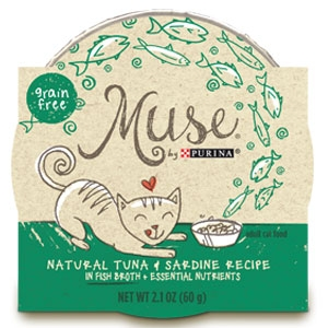 Purina Muse Natural Tuna  & Sardine Recipe Adult Cat Food