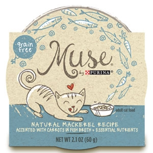 Purina Muse Natural Mackerel Recipe Adult Cat Food