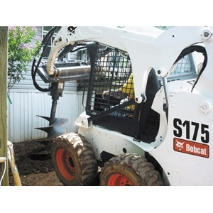 Bobcat Skidsteer Auger Attachment   9