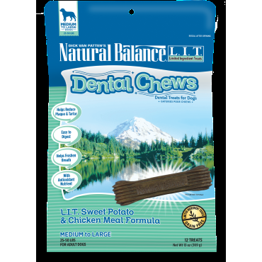 Nautral Balance Dental Chews L.I.T. Sweet Potato & Chicken Meal Formula