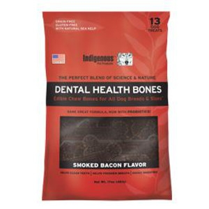 Indigenous Pet Products Dental Health Bones- Bacon Flavor