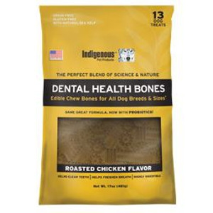 Indigenous Pet Products Dental Health Bones- Chicken Flavor
