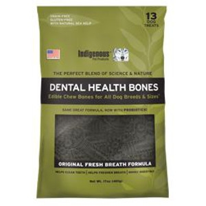 Indigenous Pet Products Dental Health Bones- Original
