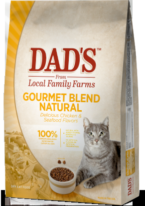 Dad's Gourmet Blend Natural Cat Food, Sixteen Pound Bag