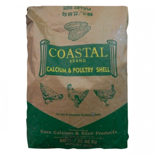 Coastal Brand Calcium and Poultry Shell (Oyster Shell) 50 lbs.