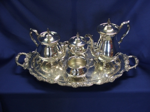 5 Piece Silver Coffee and Tea Set