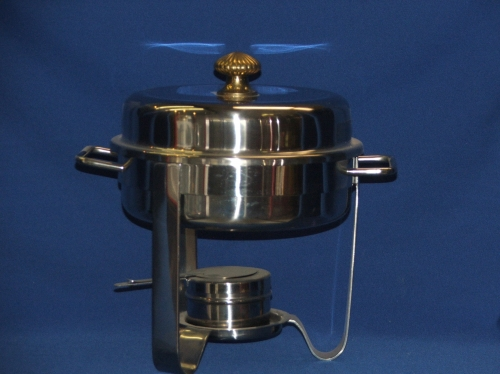 4-Quart Stainless Steel Chafer, Round