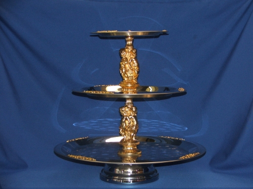 Three Tier Tray, Silver