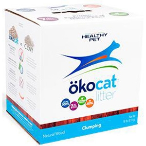 Okocat Natural Clumping Wood Cat Litter, 11.2 lbs