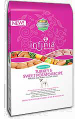 Infinia Grain Free Turkey and Sweet Potato Recipe 5, 15 and 30 pound bags