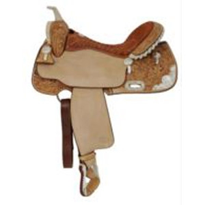 Billy Cook Silver Show Barrel Racer Saddle 2001