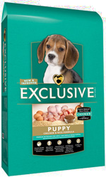 Exclusive Chicken and Rice Puppy Formula in 4, 18 and 35 pound bags
