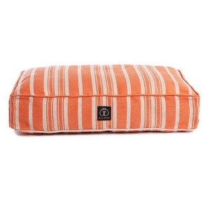 Harry Barker Classic Stripe Rectangle Dog Bed Orange