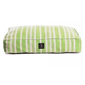 Harry Barker Classic Stripe Rectangle Dog Bed Green