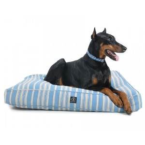 Harry Barker Classic Stripe Rectangle Dog Bed Blue