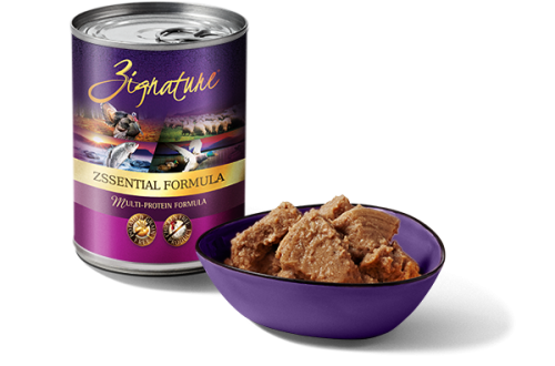 Zignature Zssential Formula canned dog food 13 oz.