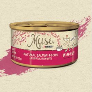 Purina Muse Natural Salmon Recipe in Gravy Adult Cat Food