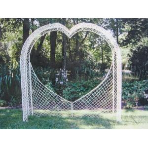 White Wicker Heart Arch
