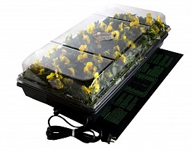 HydroFarm® Seedling Germination Station Kit with Heat Mat & Dome (11 Inch x 22 Inch)