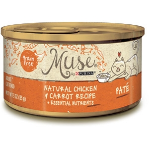 Purina Muse Natural Chicken & Carrot Adult Cat Food Recipe