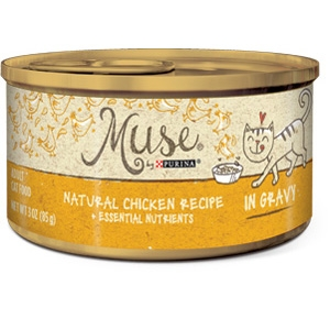 Purina Muse Natural Chicken Adult Cat Food in Gravy