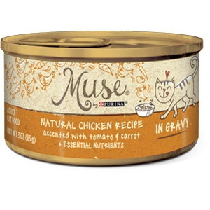 Purina Muse Natural Chicken with Tomato & Carrot Adult Cat Food Recipe