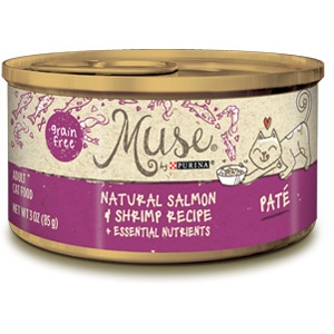 Purina Muse Natural Salmon & Shrimp Adult Cat Food Recipe