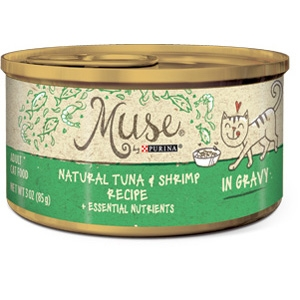 Purina Muse Natural Tuna & Shrimp Adult Cat Food Recipe