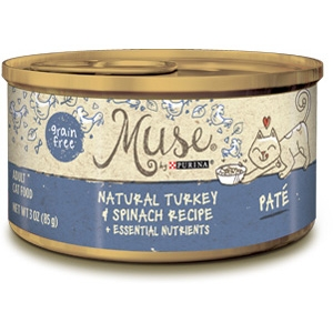 Purina Muse Natural Turkey & Spinach Adult Cat Food Recipe