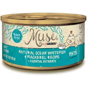 Purina Muse Natural Ocean Whitefish & Mackerel Adult Cat Food Recipe
