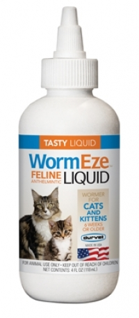 WormEze Feline Liquid Wormer, 4 and 8 ounce