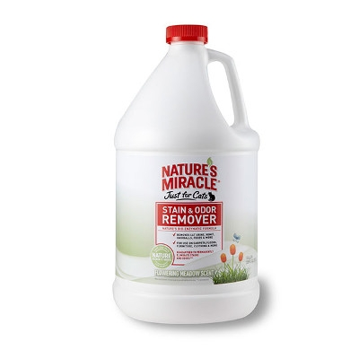 Just for Cats Stain & Odor Remover Flowering Meadow Scent, 1 Gallon